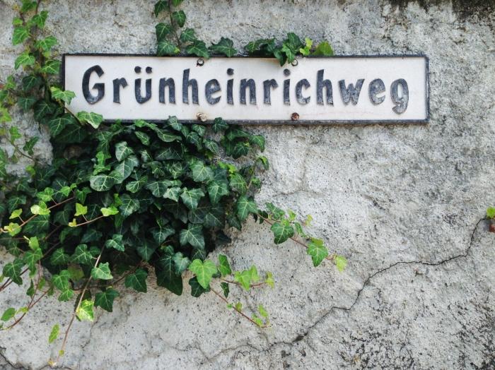 Grünheinrichweg in Glattfelden wo Gottfried Keller herkommt.