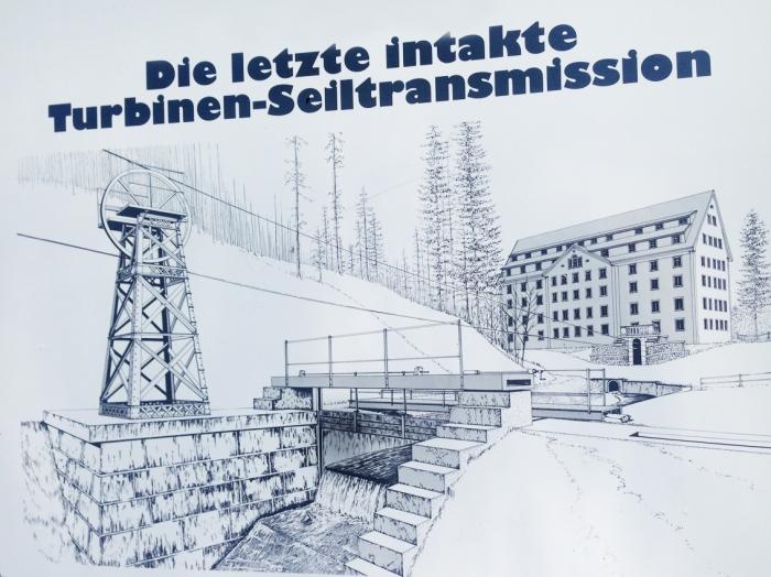 Seiltransmission auf dem Industrielehrpfad Bauma-Uster.